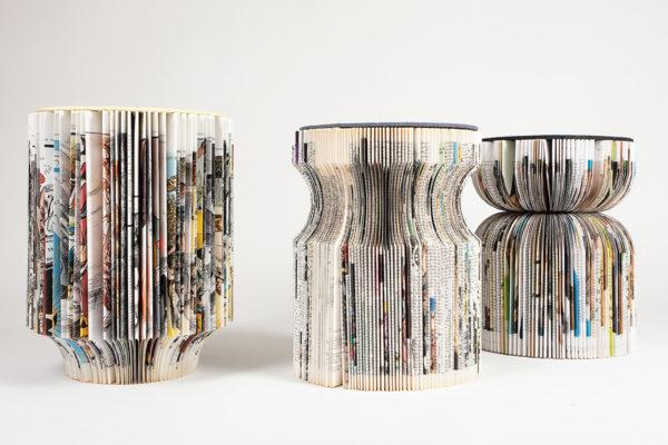 Les Cultivées, assises en papier, Upcycling de livres  @lesresilientes  Emmaus / Design